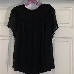New J Crew black blouse